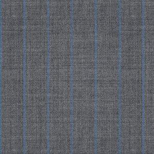 Pantaloni Fresco Grigi a Righe Tessuto prodotto da  Lanificio Ermenegildo Zegna