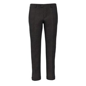 Pantaloni Marroni a Righe Tessuto prodotto da  Lanificio Ermenegildo Zegna
