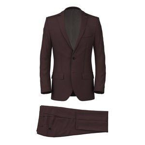 Burgundy Satin Suit Fabric produced by  Lanificio Zignone