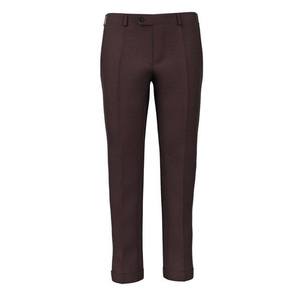 Pantaloni Bordeaux Raso Tessuto prodotto da  Lanificio Zignone