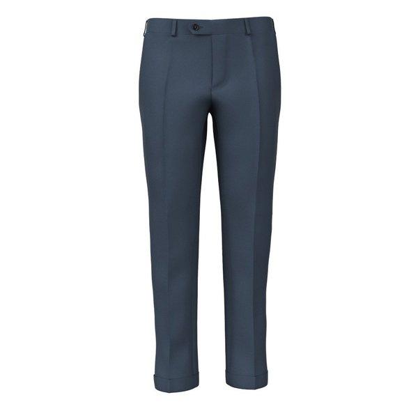 Pantaloni Twill Blu Polvere Tessuto prodotto da  Lanificio Zignone