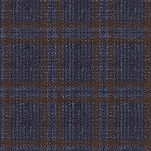 Giacca Blu a Quadri Lana Lino Tessuto prodotto da  Lanificio Zignone