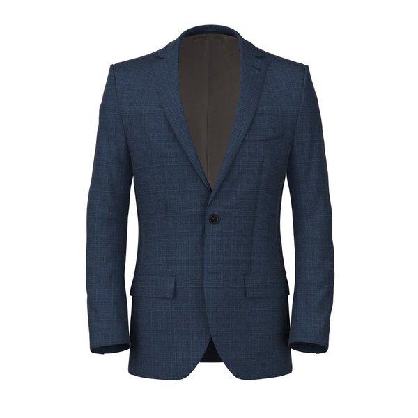 Giacca Blu Napoli Principe di Galles Tessuto prodotto da  Lanificio Zignone
