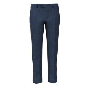 Pantalon Bleu Naples Prince de Galles Tissu fabriqué par  Lanificio Zignone
