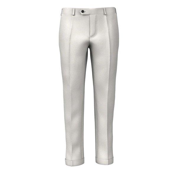 Pantaloni Grigio Autentico Tessuto prodotto da  Lanificio Zignone