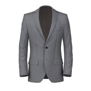 Charcoal Grey Jacket Fabric produced by  Lanificio Zignone