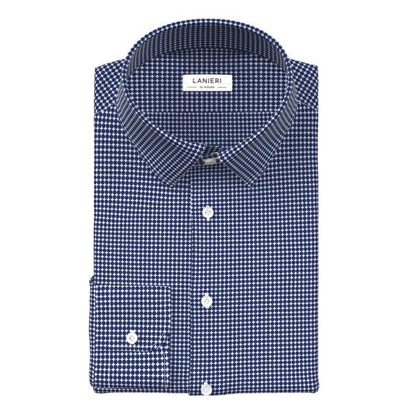 Camicia Blu Fantasia Tessuto prodotto da  Grandi & Rubinelli
