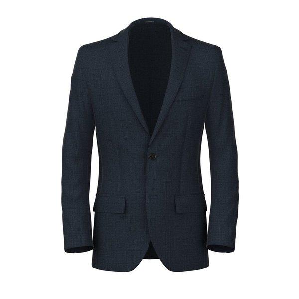 Blazer Blu Genova Principe di Galles Tessuto prodotto da  Loro Piana