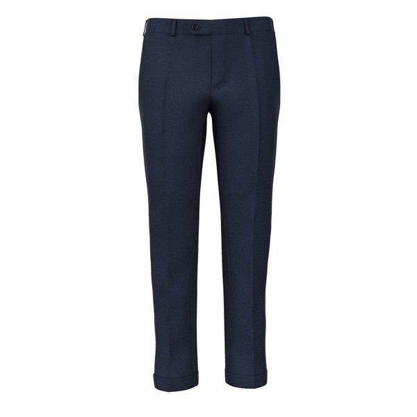 Pantaloni Blu Lana Lino Tessuto prodotto da  Vitale Barberis Canonico