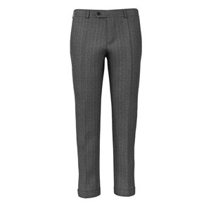 Pantaloni Grigi Gessati Tessuto prodotto da  Vitale Barberis Canonico
