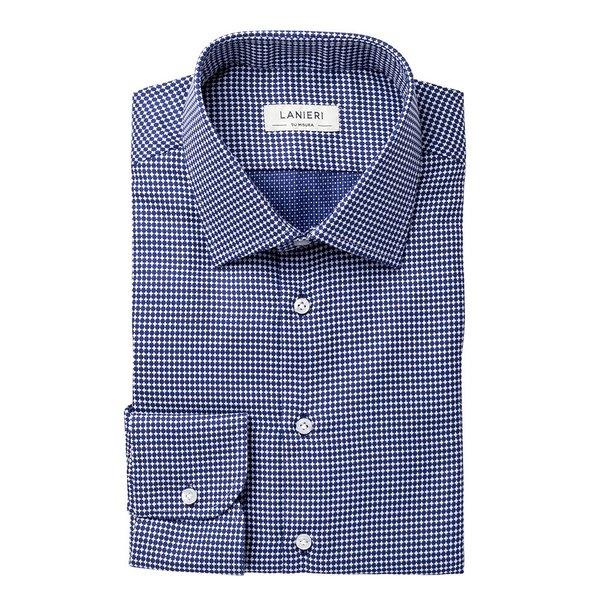 new product 03f35 de5d7 Camicia su Misura da Uomo Blu Napoli Fantasia | Lanieri