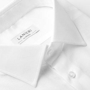 Dobby Inglese Camicia Bianca su Uomo Misura da Lanieri wvqYvF4
