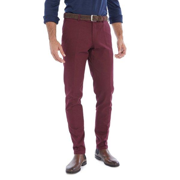 la clientèle d'abord 50% de réduction baskets pour pas cher Pantalon Chino Bordeaux Sur Mesur Pour Homme | Lanieri
