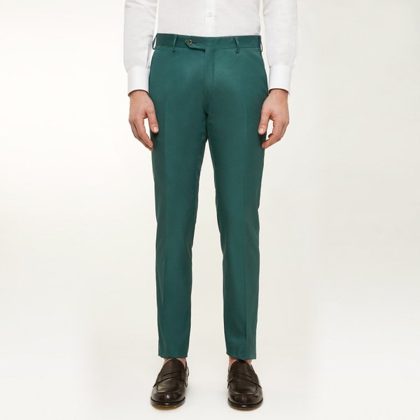 1bf657eecc Pantaloni Chino Verdi Su Misura da Uomo | Lanieri