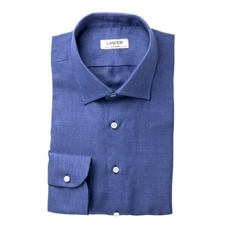 8a6b9eacd39496 Camicie da uomo azzurri su misura - 100% Made in Italy | Lanieri