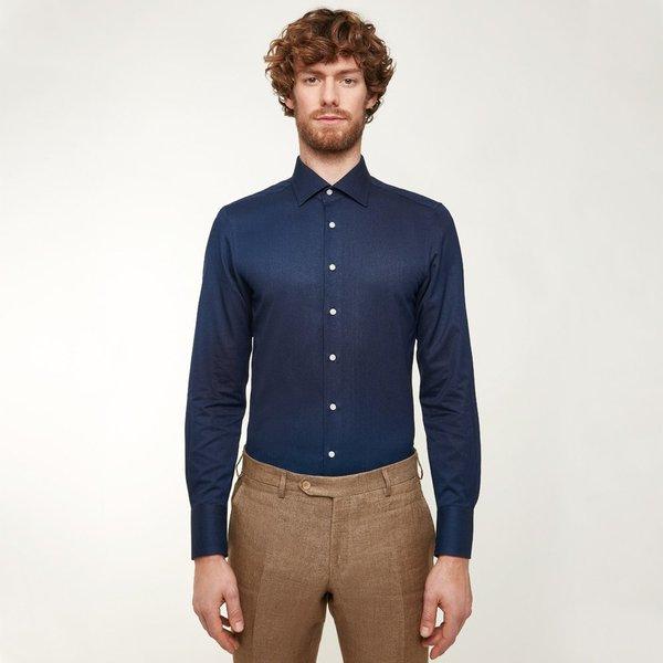 competitive price e28f5 ad5a8 Camicia su Misura da Uomo Jeans Blu | Lanieri