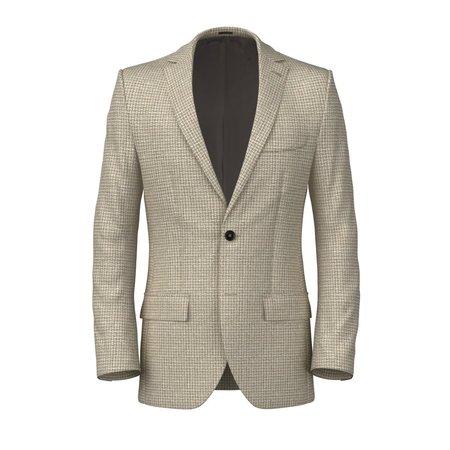 Giacca grigio torino melange giacca uomo su misura lanieri elegante